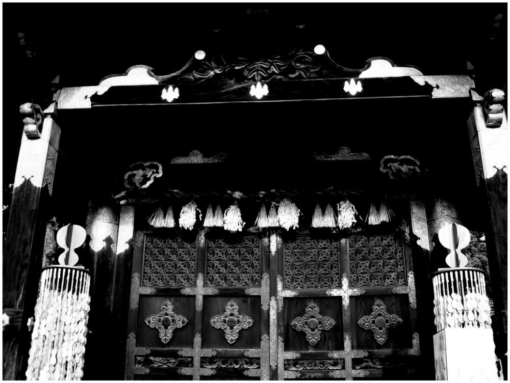 Doors of Toyokuni Shrine in Kyoto