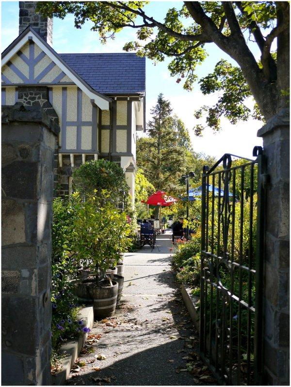 Looking through a garden gate