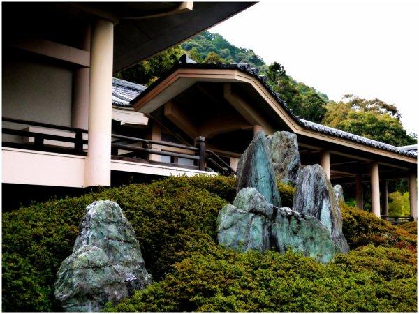 Rocks in a Japanese garden