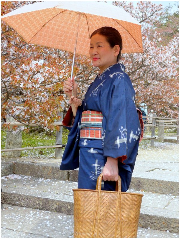 Japanese woman with parasol