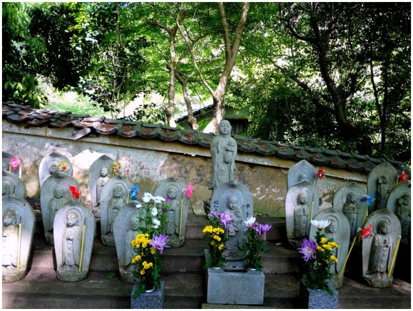 Japanese Ojizo with windmills