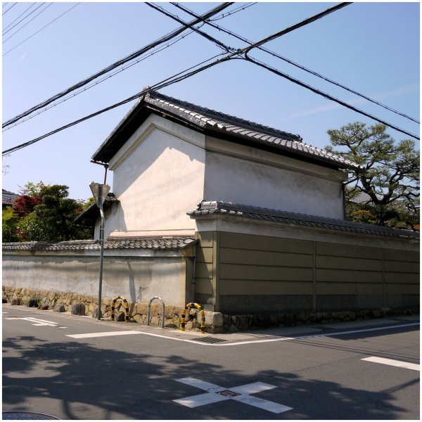 Traditional Japanese house at intersection