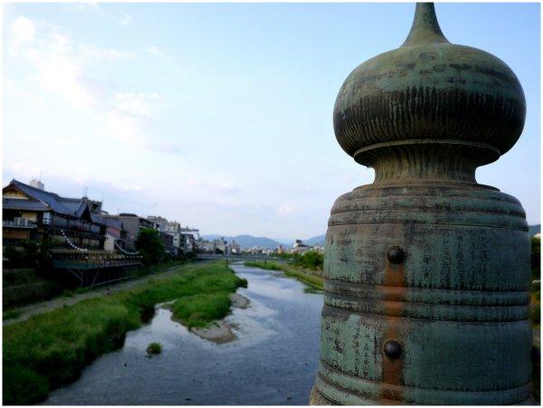 Kamo River in Kyoto from Sanjo Bridge