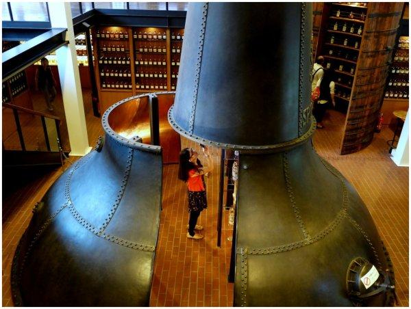 Inside a still at whiskey factory