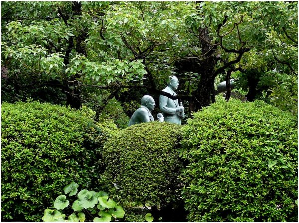 Statues in a garden