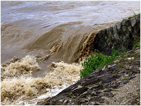 Kamo River after Typhoon No.18