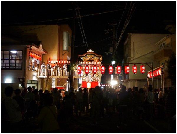 Festival night in Otsu, Japan
