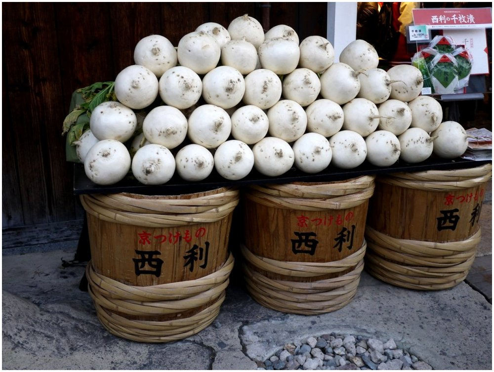 Stacked turnips