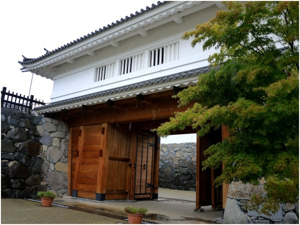 Japanese castle gate in Kofu