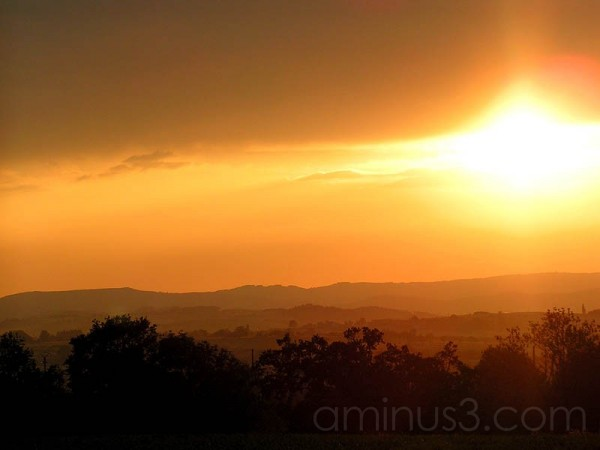 Sunset, France,