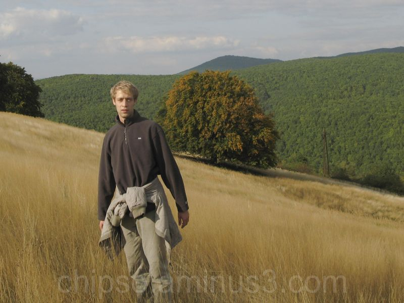 Man standing on the meadow