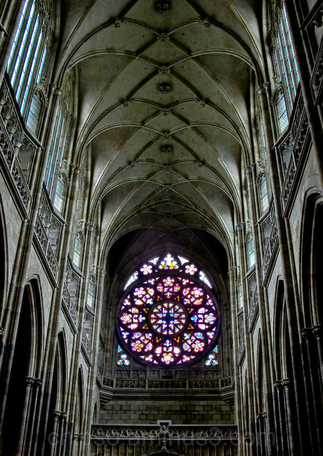Inside of cathedral of saint Vit, Prague
