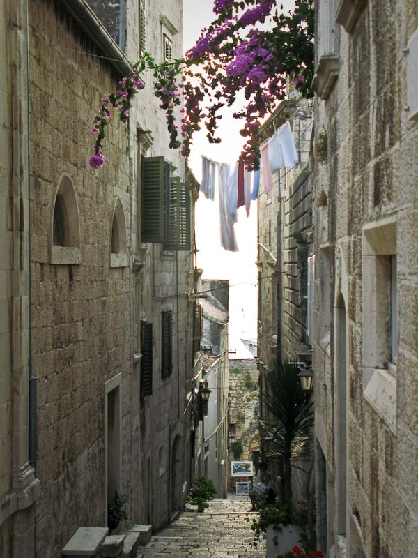 Street in korcula city.