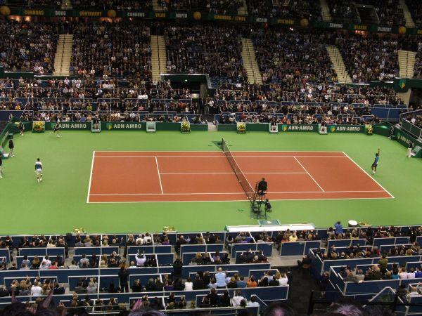 Tennisgame between Rafael Nadal and Gaël Monfils