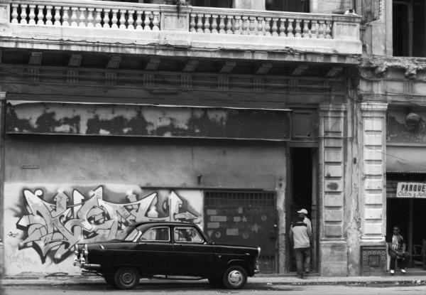 graffiti, car, cuba