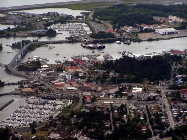 Sitka, Alaska from Mount Verstovia.