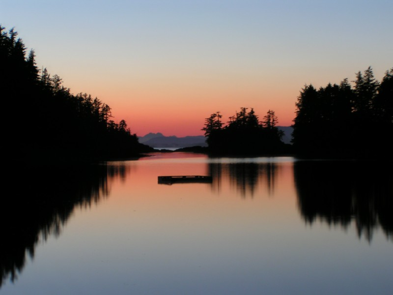 Sunset over the Pacific from Sitka, Alaska.