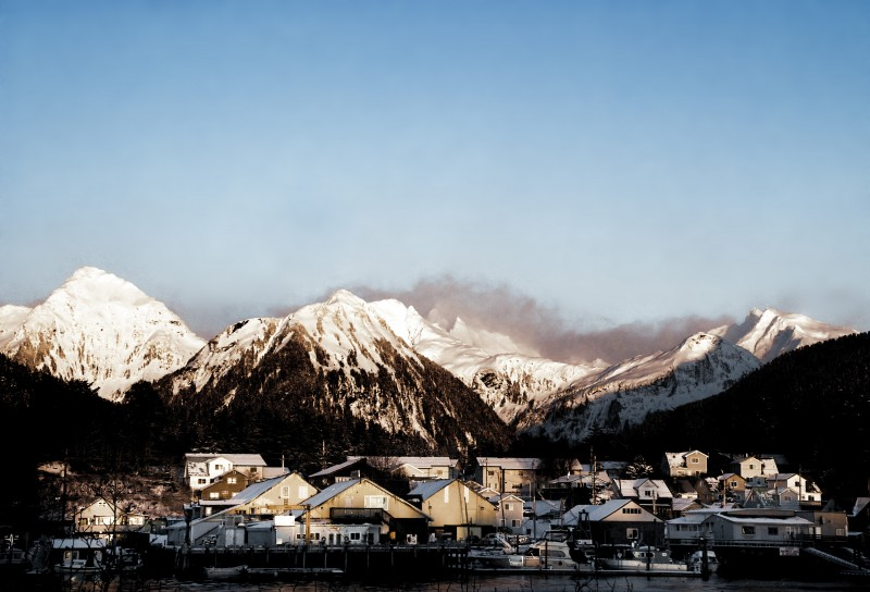 The city of Sitka, Alaska.