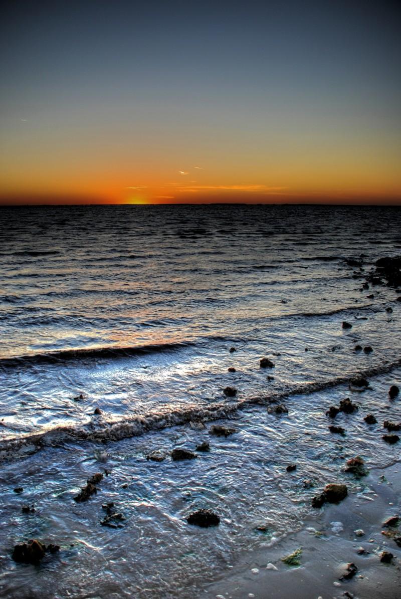 Watching the sunset in Punta Gorda, FL.