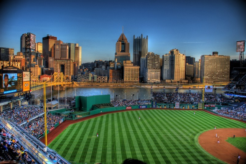 Downtown Pittsburgh from PNC Park.