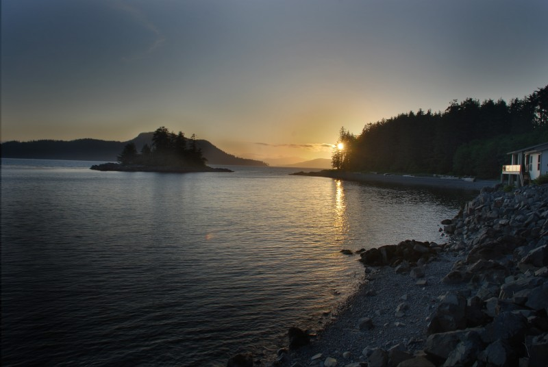 Sunset in Sitka, Alaska.
