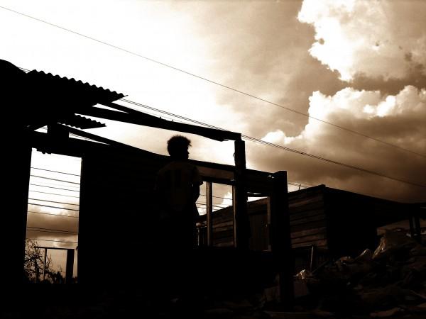 broken home of poor people
