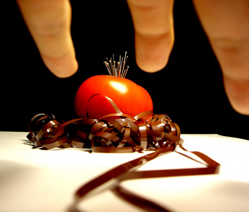 tomato art in black and white