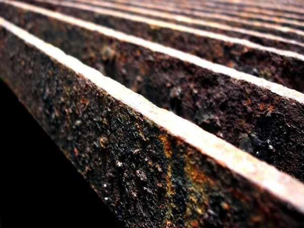 rusty drain cover