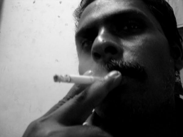 a guy smoking