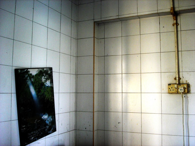 the picture on two cornered wall