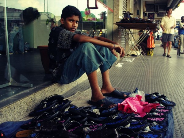 the kid who sells shoes