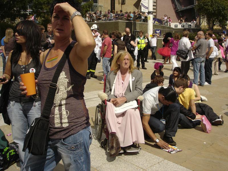 crowd in Leedspride day