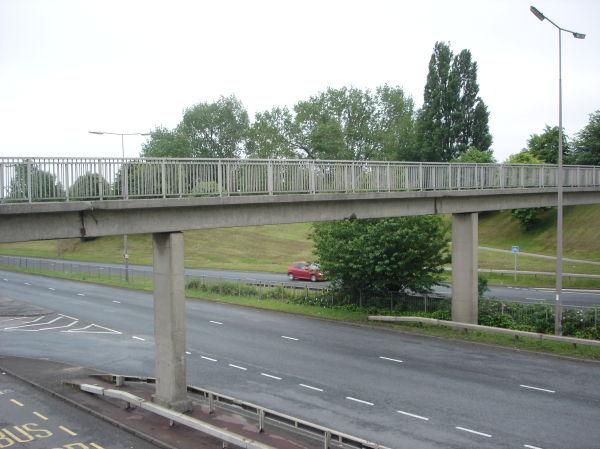 overbridge and highway in leeds