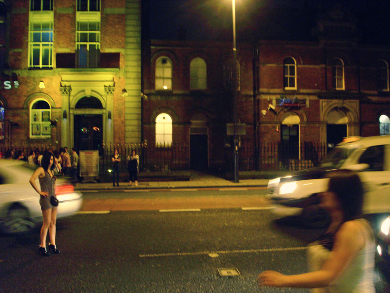 street on friday night in leeds