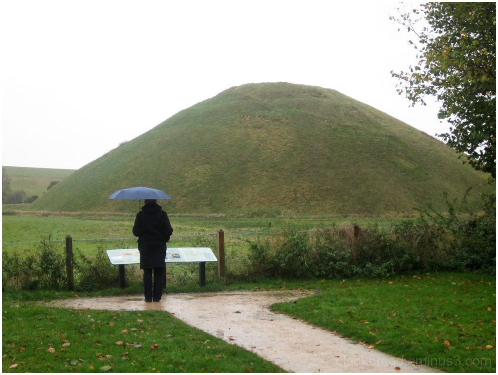Silbury Hill in the Rain