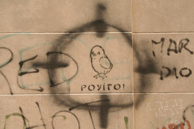 stencil of a chick