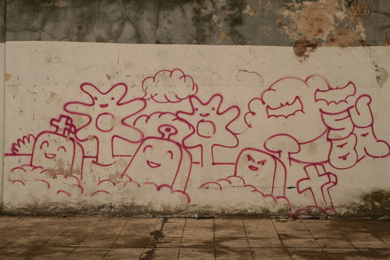playful graffiti