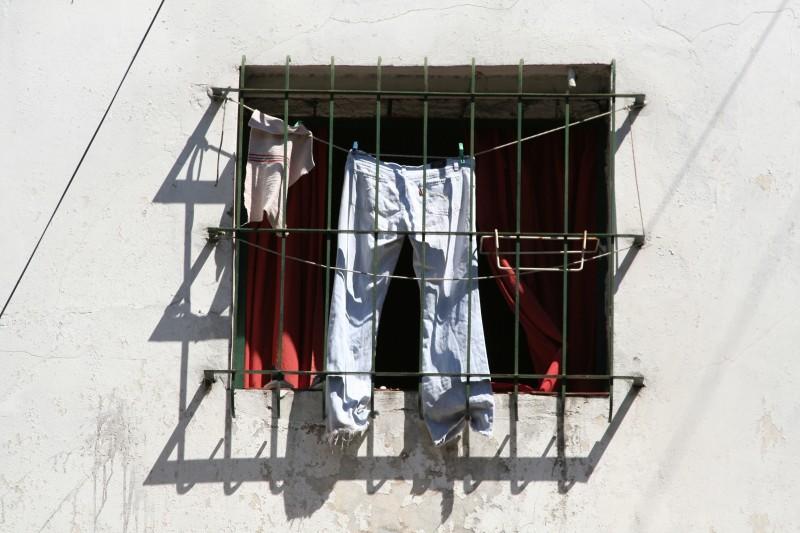 pants behind bars