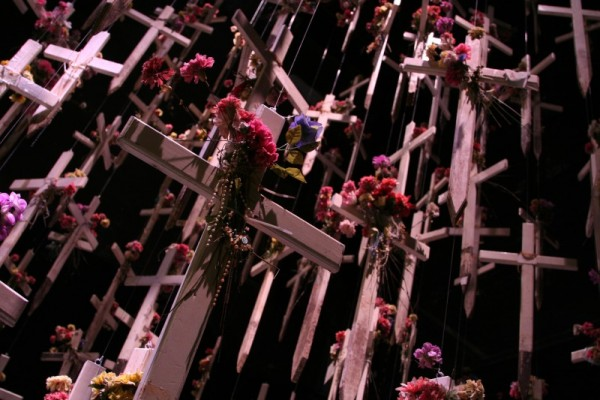 crosses of fallen soldiers