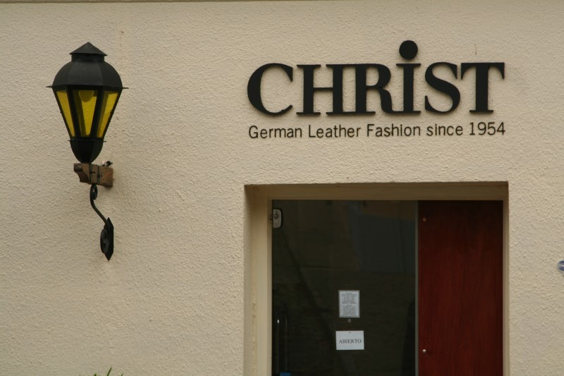 leather shop sign