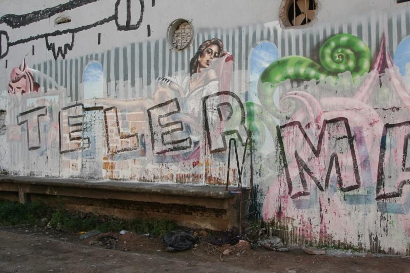 politics ruins graffiti