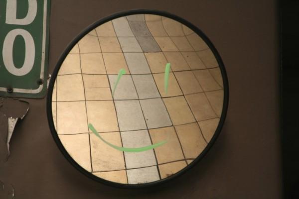 mirror smiley face