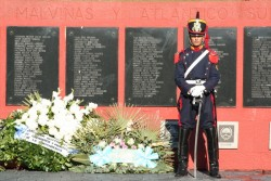 soldier at malvinas memorial