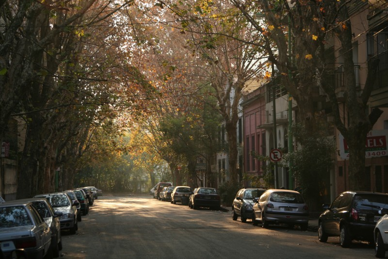 quiet street sunset