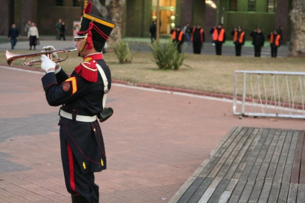 flag lowering ceremony in buenos aires