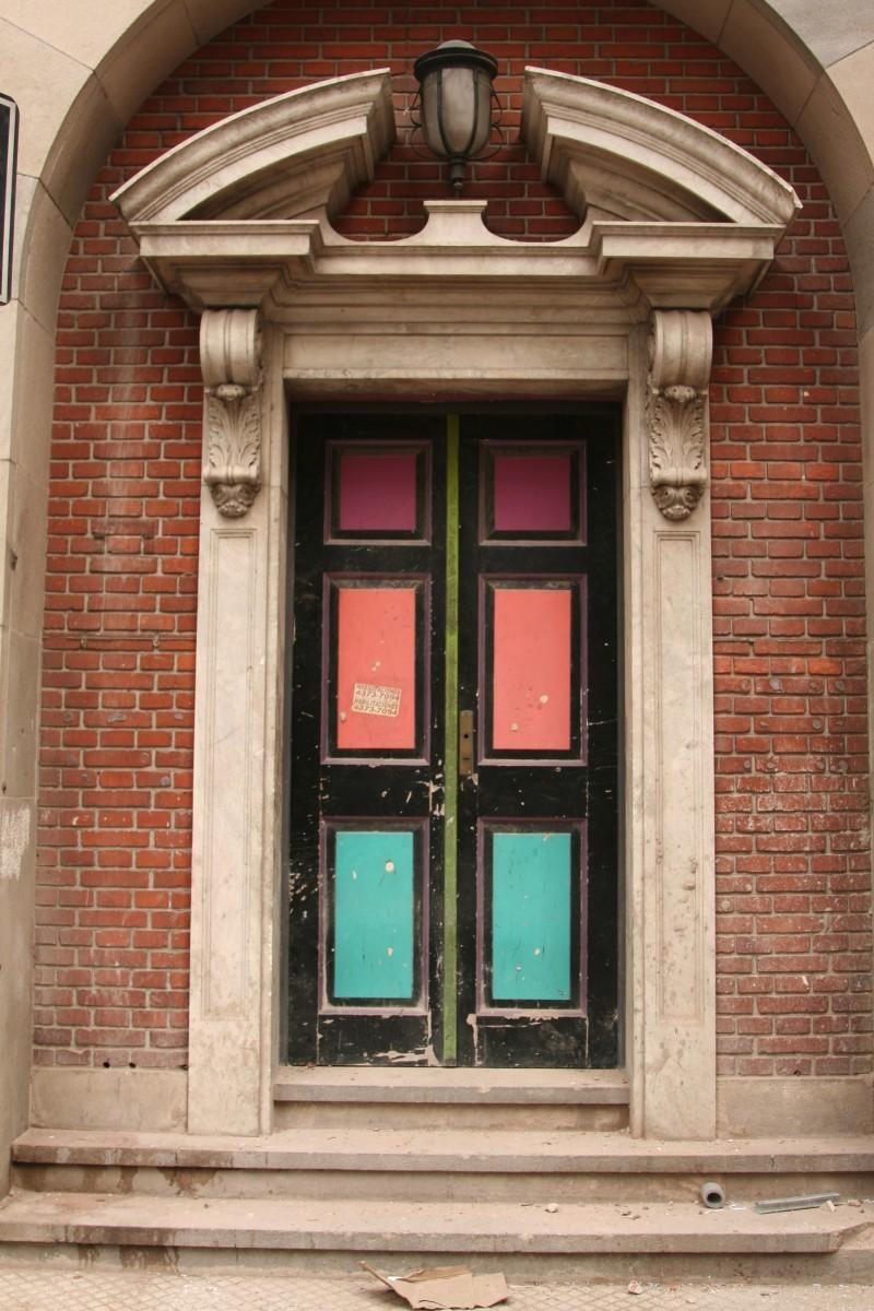multi-coloured door