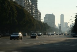 wide road in buenos aires