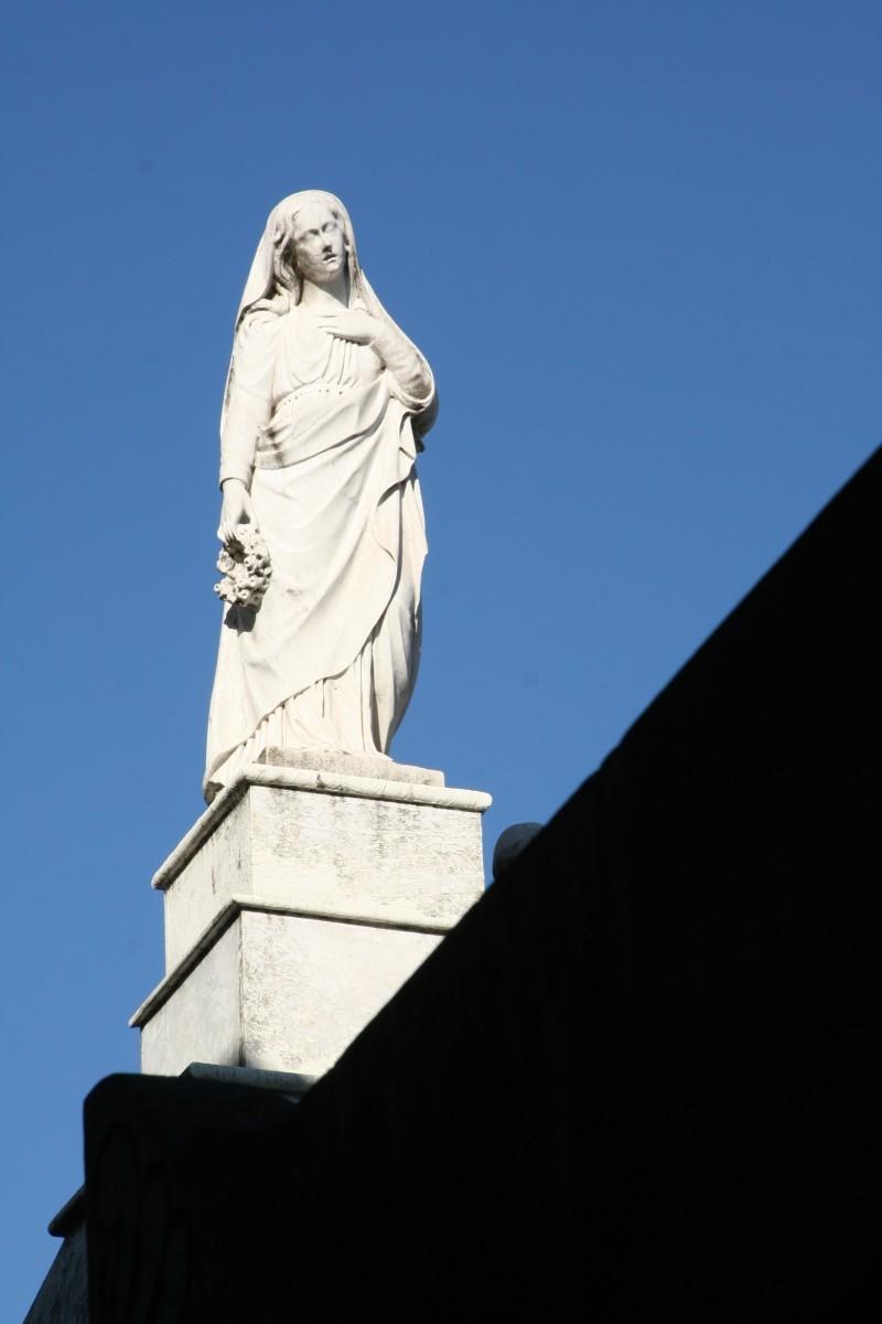 statue in recoleta cemetery