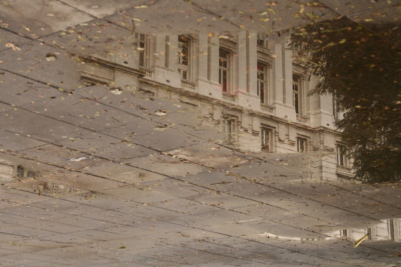 reflection of the post office