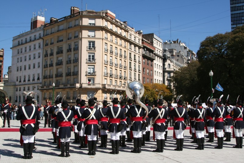 soldiers playing at a celebration